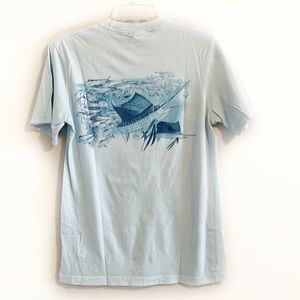 4/$20 GUY HARVEY Light Blue Graphic Pocket Tee